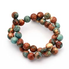 Take a peek at these truly lovely multi-color dyed, ocean Jade gemstone beads... beautiful tones of the desert! Perfect for all sorts of