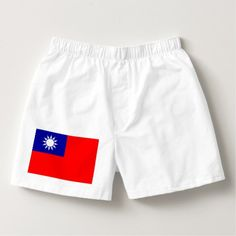 ROC Taiwan - Taiwanese Flag - 中華民國國旗 - 青天白日滿地紅 Boxers - Dashing Cotton Underwear And Sleepwear By Talented Fashion And Graphic Designers - Boxer Briefs, Men's Boxers, Texas Flags, Uk Flag, Cotton Underwear, Men's Underwear, Elegant Man, Mens Fashion, Trendy Fashion
