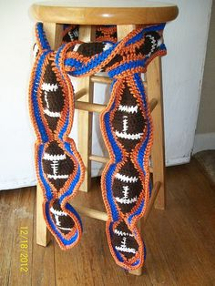 crochet team sports  | Crochet for Sports / Ravelry: My Team Foot Ball Scarf pattern by ...