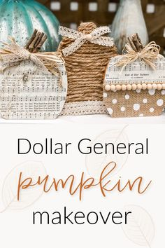when I saw this trick or treat pumpkin sign sitting on the shelf at Dollar General, I immediately saw something totally different. What is funny is that what I saw it as and what I turned it into are actually 2 different things! #DollarGeneralDecor #FallDecor #DIYFallDecor Thanksgiving Decorations, Halloween Decorations, Fall Decorations, Thanksgiving Ideas, Dollar Store Crafts, Dollar Stores, Fall Crafts, Diy Crafts, Tree Crafts