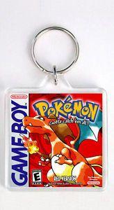 a pokemon red version nintendo game boy keyring llavero