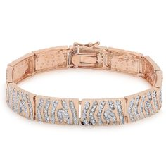 Wow this Finesque Rose Gold Overlay Diamond Accent Stripe Bracelet & at that price I'm buying one  http://www.overstock.com/10022163/product.html?CID=245307