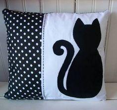 Resultado de imagen para almofadas com gatos patchwork