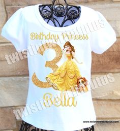 Princess Belle Birthday Shirt | Beauty and the Beast Birthday Shirt | Beauty and the Beast Birthday Party | Beauty and the Beast Party | Princess Belle Birthday Party | Belle Birthday Party | Birthday Ideas for Girls | Twistin Twirlin Tutus #beautyandthebeastbirthday