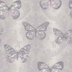 New Arthouse Midsummer Heather Butterfly Glitter Wallpaper - 661204 Plain Wallpaper, Glitter Wallpaper, Purple Wallpaper, Butterfly Wallpaper, Wallpaper Backgrounds, Heathers Wallpaper, Wildlife Wallpaper, Fantastic Wallpapers, Botanical Wallpaper