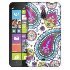 Nokia Lumia 1320 Fun Paisleys on White Slim Case