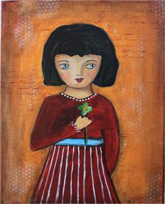 Little Folk Art Girl