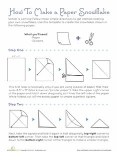Worksheets: How To Make Snowflakes
