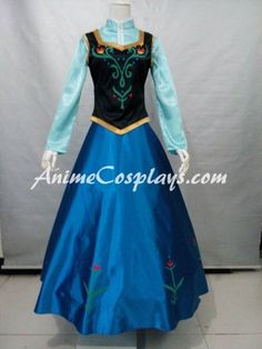 Handmade Disney Frozen Anna Dress Anna Cosplay Costume Dress Halloween Dress