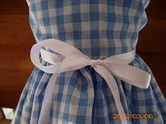 """Blue and White Checkered Gingham Print  Handmade Spring/Summer Sleeveless Dress fitting American Girl & Similar 18"""" Dolls. $12.00, via Etsy."""