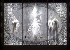 The White Company Christmas Window Display, Christmas Decorations, Christmas Windows, Window Company, Tree Shapes, The White Company, Shop Window Displays, Visual Merchandising, Christmas Shopping