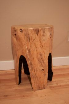 wood round stool, table, or chopping block