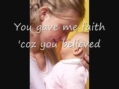 Because You Loved Me, Celine Dion (with Lyrics) - Dedication to Mothers - YouTube
