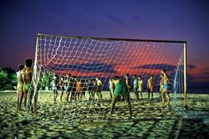 Luiz Braga. Futebol na praia, 1988