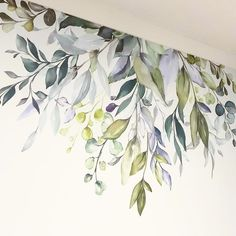 home decor inspo Mural Art, Wall Murals, Wall Art, Wall Painting Decor, Wall Decor, 3d Wanddekor, Walled Garden, Watercolor Walls, Floral Wall