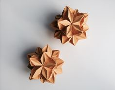 Beautiful hand made flower ballMade by Origami Est exclusively for Naked LungeWhite velvet ribbon for hanging17cm x17cm