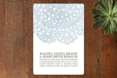 Watercolor and Doilies Wedding Invitations by Bethany Anderson at minted.com