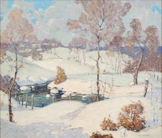 'Snappy Winter' by Carl Lawless (1894-1964), American Impressionist painter