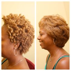 Curly vs straight. To learn how to grow your hair longer click here - http://blackhair.cc/1jSY2ux