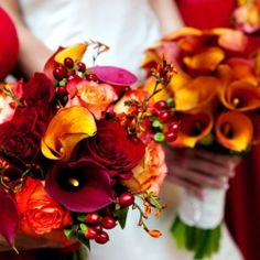 Beautiful bouquet in all it's autumn splendor from Flowers by Semia