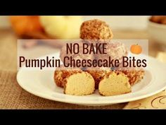 No Bake Pumpkin Cheesecake Bites | Beauty and the Foodie