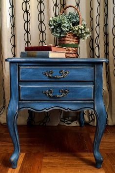Vintage French Provincial Side Table by ColorfulHomeDesigns