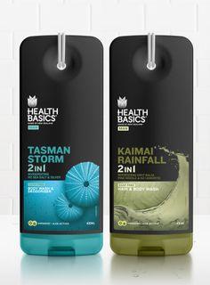 Health Basics on Packaging of the World - Creative Package Design Gallery Black Packaging, Bottle Packaging, Beauty Packaging, Cosmetic Packaging, Food Packaging, Plastic Packaging, Product Packaging, Packaging Ideas, Salt & Silver