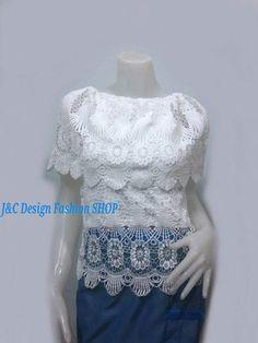 เสื้อลูกไม้สีขาวเชิง เสื้อผ้าไทยไหมแก้วแต่งลูกไม้สีขาว แขนสั้น่ารัก งานนำเข้า จับแมทเสื้อผ้าได้ง่ายทั้งกางเกง กางเกง หรือผ้าถุงไทย  PRODUCT ID: TOP 234  Priece : 280 B.  @ราคาส่งอินบล็อกได้ค่ะ  ผ้า:ลูกไม้สีขาวคอดึงยาง ด้านหลังเป็นลูกไม้ทั้งตัวเหมือนด้านหน้า  สีและแบบ:ตามภาพ สีขาว  *แบบน่ารักๆ  สวมใส่ได้ทุกโอกาส ตัวเสื้อออกสไตน์คอกลมปาดเล็กน้อย ปักมุกรอบคอช่วงหน้า บริเวณอกและแขนด้านหน้าแต่งด้วยลูกไม้รูปวงรี ซ้อน  งานตัดเย็บเนี้ยบ  แขนสั้นเรียบร้อย งานปราณีตมาก    SIZE: FREE SIZE…
