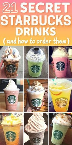 Starbucks Secret Menu Items and How to Order Them Update) DIY your photo charms, compatible with Pandora bracelets. Make your gifts special. Make your life special! 21 Starbucks Secret Menu Drinks And How To Order Them Comida Do Starbucks, Starbucks Secret Menu Items, Bebidas Do Starbucks, Starbucks Secret Menu Drinks, Starbucks Coffee, Starbucks Food, Special Starbucks Drinks, Starbucks Drinks Without Coffee, Starbucks Hacks