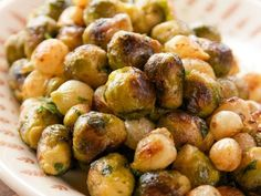 Get Roasted Sprouts and Onions Recipe from Food Network