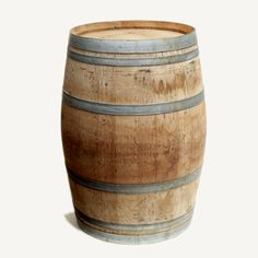 oak wine barrel: Our oak wine barrels are a perfect alternative to bistro tables but also look great placed at your ceremony aisle or used as a cake table. Use two of them and add one of our door tops for a perfect bar, sweets or favors display.