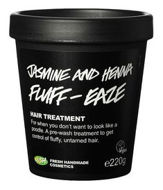 LUSH Jasmin and Henna Fluff-Eaze Hair Treatment. Very good according to Natural hair Growth on YT. She says the scent lingers and it's very watery.