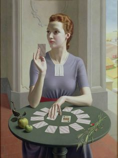 """inland-delta: """" Meredith Frampton, A Game Of Patience,1937 """""""