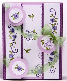 DeNami With Love Pansy card by @Tina Doshi Milbourn
