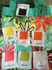 embroidery colors to match Daisy Craze/shown with the NEW essential storage tote