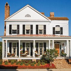 "17 pretty house plans with porches Taylor Creek - Plan No. 1533 Two words, ""Southern"" and ""comfort"" may best describe this 3,100 square foot..."