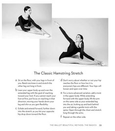 cool Mary Helen Bowers demonstrating the classic hamstring stretch, from her book &qu...