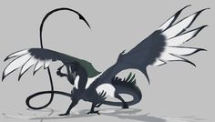 fowl dragon by oukamiyoukai45.deviantart.com on @DeviantArt