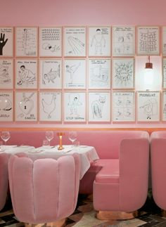 Sketch London - Traditional Brasserie meets French Fantasy. #pinkfurniture #pink