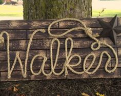 Western Rope Name Sign Cowboy Theme