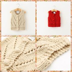 New Arrival Babies Girls Hollow Out Crochet Cardigans Vests Cute Kid Girl Beige And Red Color Christmas Western Casual Waistcoats From Smartmart, $14.61 | Dhgate.Com