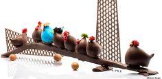 Les poules en chocolat de Patrick Roger, mmmm.  #Paques #easter #patrickroger