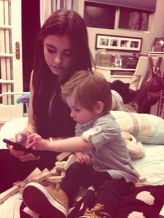 madison beer with a baby.