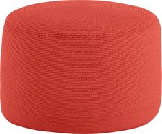 Textured Paprika Outdoor Pouf  | Crate and Barrel