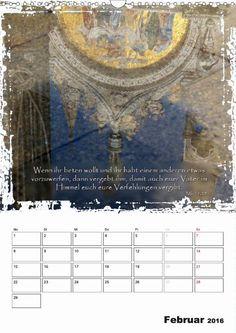 Kalender - Christliche Monatssprüche - Februar