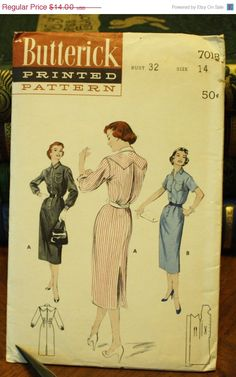 Black Friday 50% Off Sale Butterick 7018 by EleanorMeriwether