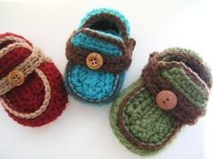 Crochet Dreamz: Boy's Slippons Crochet Booties (free Pattern) in 4 sizes