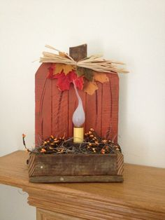 Primitive Decorative Pumpkin Light  Rustic by ourcraftycreations, $14.99