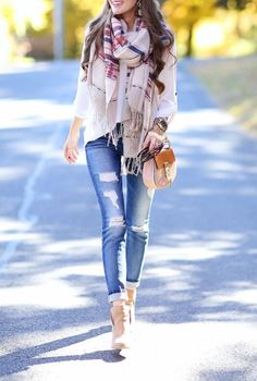 scarf, booties, & bag