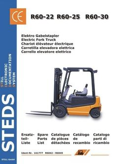 Original Illustrated Factory Spare Parts List for Still Electric Fork Truck R60-35, R60-40, R60-45, R60-50.Original factory manuals for Still Forklift Trucks, contains high quality images, circuit diagrams and instructions to help you to operate and repair your truck. All Manuals Printable and conta